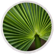 Radial Greens Round Beach Towel