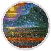 Radiance Round Beach Towel