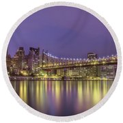 Radiant City Round Beach Towel