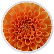 Radiant Round Beach Towel by Felicia Tica