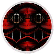Round Beach Towel featuring the photograph Radiation Dna Glow by Clayton Bruster