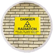 Radiation Warning Round Beach Towel