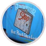 Radiator Shop Round Beach Towel