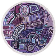 Radio Active Round Beach Towel by Barbara St Jean