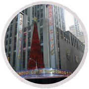 Radio City Christmas Round Beach Towel