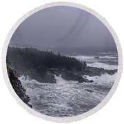 Raging Fury At Quoddy Round Beach Towel