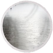 Rain On The Flint Round Beach Towel by Kim Pate