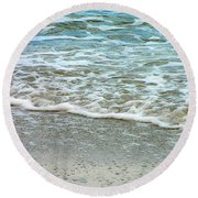 Rain Sea  Round Beach Towel by Oleg Zavarzin
