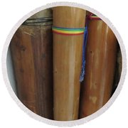 Rain Sticks Round Beach Towel