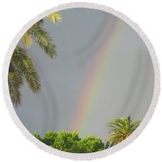 Round Beach Towel featuring the photograph Rainbow Bermuda by Photographic Arts And Design Studio