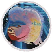 Rainbow Devil Fish Round Beach Towel