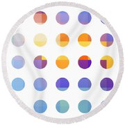 Rainbow Dots  Round Beach Towel