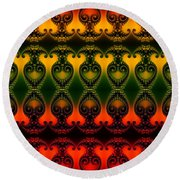 Round Beach Towel featuring the digital art Rainbow Fractal Pattern by Clayton Bruster