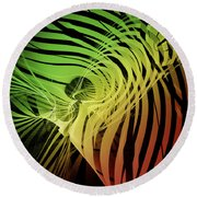 Rainbow Ribs Round Beach Towel by Richard J Cassato