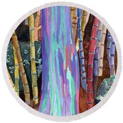 Rainbow Tree Round Beach Towel