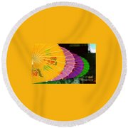 Round Beach Towel featuring the photograph New Orleans Rainbowellas by Michael Hoard