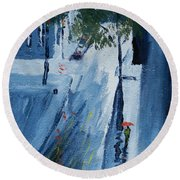 Raining Again Round Beach Towel