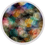 Rainy Day Christmas Round Beach Towel by Aaron Aldrich