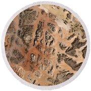 Ram Desert Transjordanian Plateau Jordan Round Beach Towel