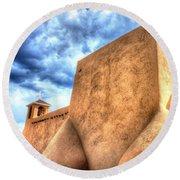 Round Beach Towel featuring the photograph San Francesco De Asis, Rancho De Taos I by Lanita Williams