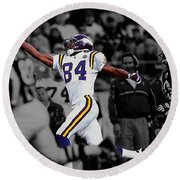 Randy Moss Round Beach Towel by Brian Reaves