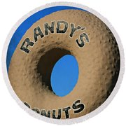 Randy's Big Donut Round Beach Towel