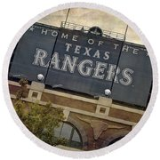 Rangers Ballpark In Arlington Color Round Beach Towel