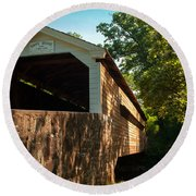 Rapps Covered Bridge Round Beach Towel