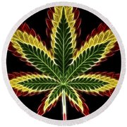 Rasta Marijuana Round Beach Towel