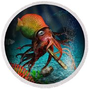 Rasta Squid Round Beach Towel