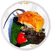 Ratburger With Cheese Round Beach Towel