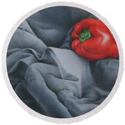 Rather Red Round Beach Towel by Pamela Clements