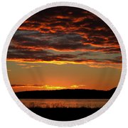 Rathtrevor Sunrise Round Beach Towel