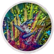 Round Beach Towel featuring the photograph Ravenala by Hanny Heim