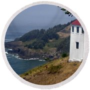 Round Beach Towel featuring the photograph Raw Powerful Beauty by Fiona Kennard