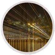 Round Beach Towel featuring the photograph Rays Over The Bay by Gary Holmes