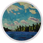 Reach To Grippen Round Beach Towel by Phil Chadwick