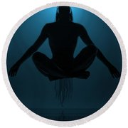 Reaching Nirvana.. Round Beach Towel