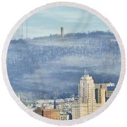 Reading Skyline Round Beach Towel