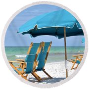 Ready When You Are Round Beach Towel