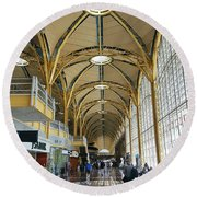 Round Beach Towel featuring the photograph Reagan National Airport by Suzanne Stout