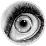 Realistic Eye Round Beach Towel