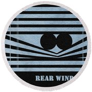 Rear Window Round Beach Towel