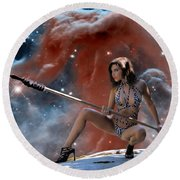 Rebel Warrior Round Beach Towel