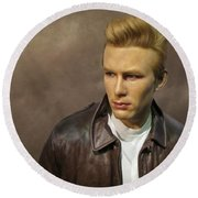 Rebel Without A Cause Round Beach Towel