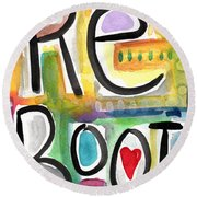 Reboot Round Beach Towel