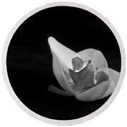 Reclining Orchid Round Beach Towel
