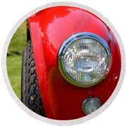 Round Beach Towel featuring the photograph Red Ac Cobra by Dean Ferreira