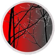 Red And Gray Round Beach Towel by Cynthia Guinn