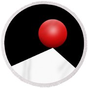 Red Ball 29 Round Beach Towel